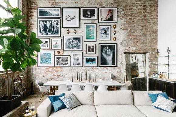 Фотографии и картины в рамке в стиле лофт