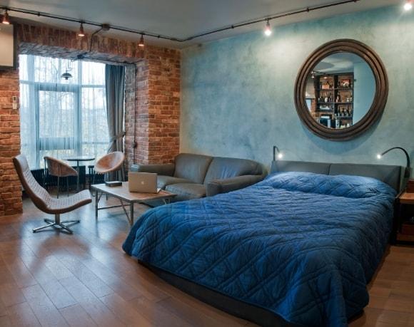 Однокомнатная квартира в стиле лофт