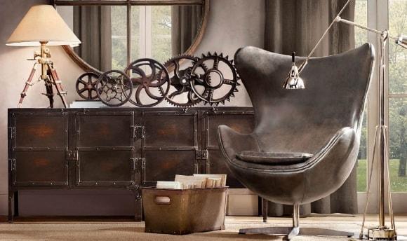 Офисное кресло в стиле лофт