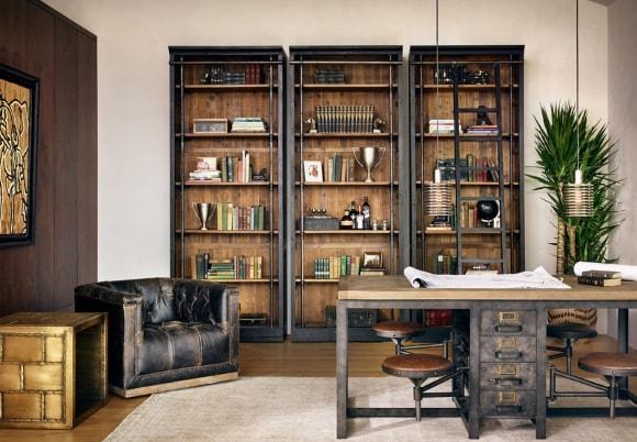 Письменный стол в интерьере стиля лофт
