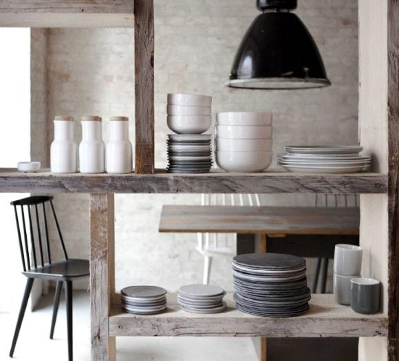 Посуда в интерьере стиля лофт