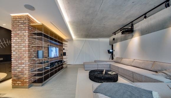 Потолок в интерьере стиля лофт