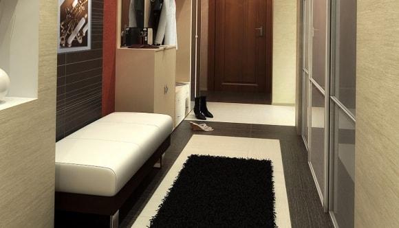 Прихожая с диванчиком в коридоре