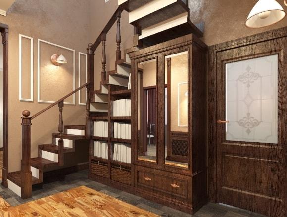 Прихожка в коридоре частного дома