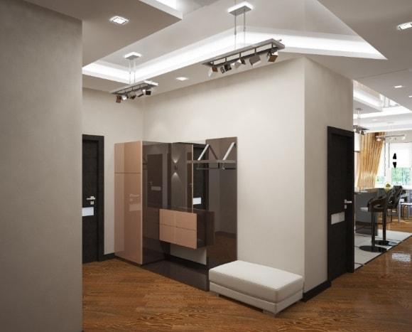 Прихожка в коридоре квартиры-студии