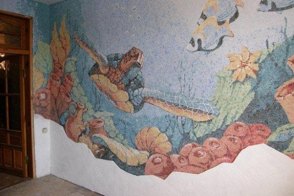 Рисунок жидкими обоями в детской комнате