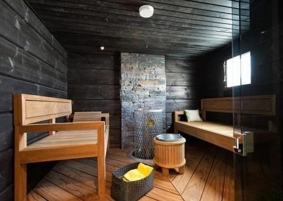 Стиль лофт в интерьере бани
