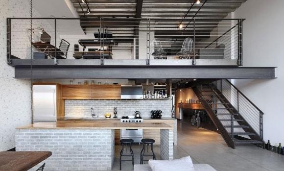 Стиль лофт в интерьере частного дома