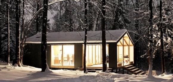 Банный домик в скандинавском стиле
