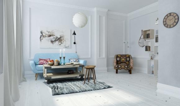 Декорирование скандинавского интерьера коллеровкой стен