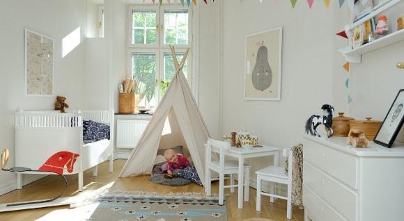 Детская мебель, выполненная в сканди-стиле