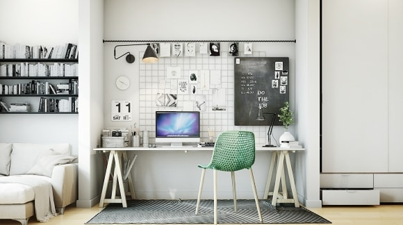 Дизайн интерьера кабинета скандинавского стиля