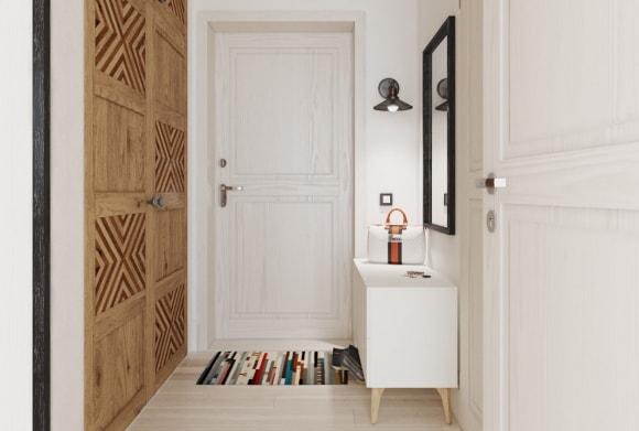 Дизайн интерьера коридора скандинавского стиля