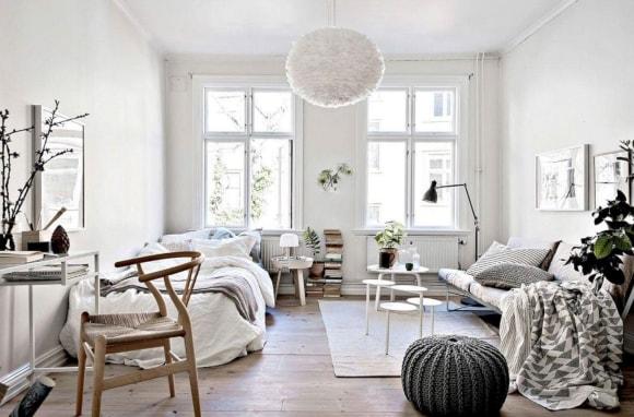 Дизайн интерьера скандинавского стиля с нотками хюгге