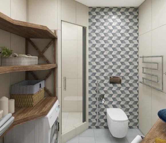 Дизайн интерьера туалета скандинавского стиля