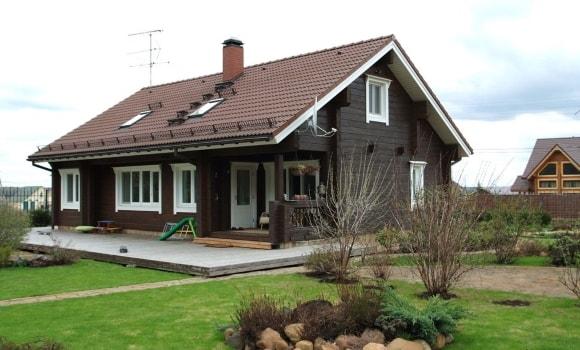 Двускатная крыша в скандинавском стиле