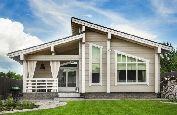 Экстерьер дома, выполненный в сканди-стиле