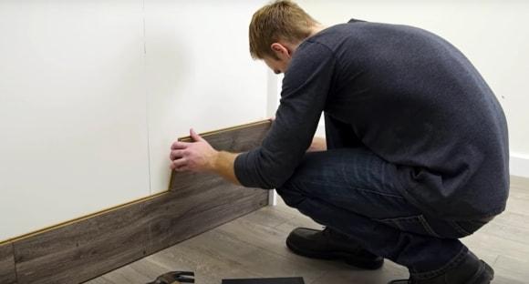 Крепление ламината на стену без обрешетки на клей