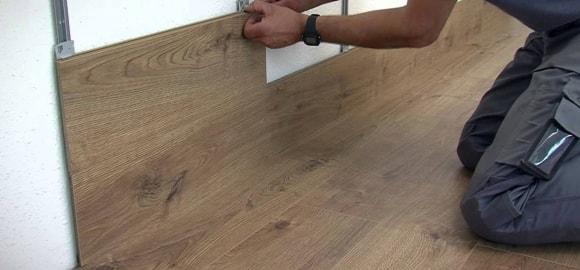Крепление ламината на стену с помощью кляймеров
