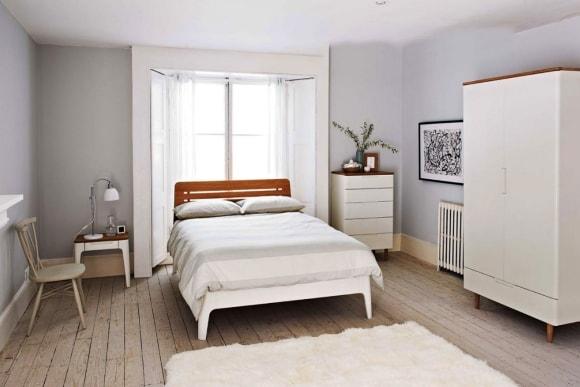 Кровать скандинавского стиля