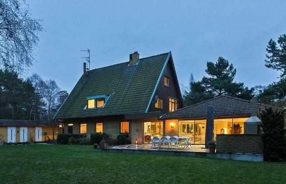 Крыша, выполненная в сканди-стиле