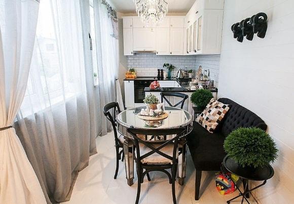 Кухонный диван скандинавского стиля