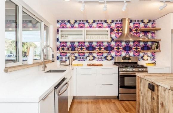 Кухонный фартук в сканди-интерьере