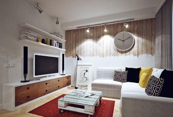 Маленькая гостиная в скандинавском стиле