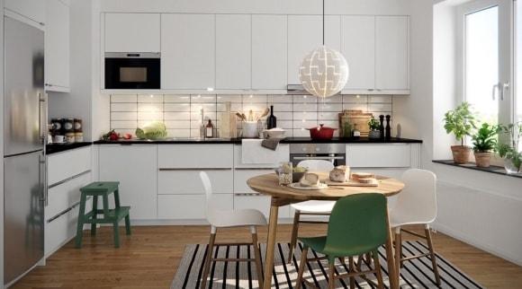 Меблирование кухни в скандинавском стиле