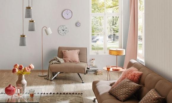 Напольный и потолочный светильники в скандинавском стиле