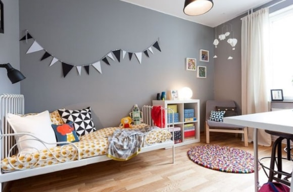Обои в интерьере детской комнаты скандинавского стиля