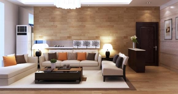 Обшивка стен за диваном ламинатом