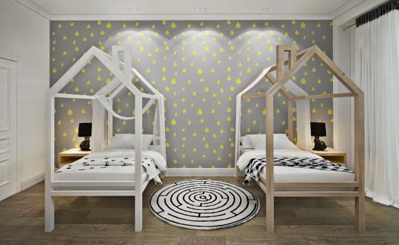 Самодельные детские кроватки в интерьере скандинавского стиля