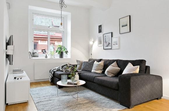 Угловой диван скандинавского стиля
