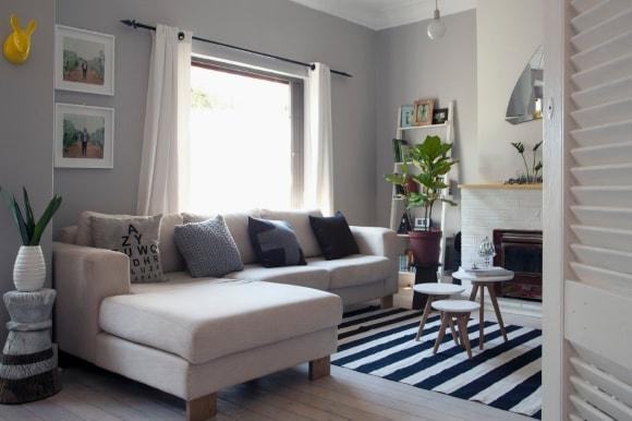 Угловой диван в интерьере скандинавского стиля