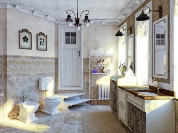 Ванная мебель, выполненная в сканди-стиле