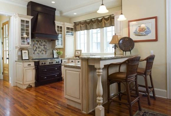 Барная стойка в стиле прованс на кухне