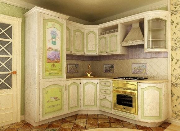 Декупаж кухни в стиле прованс