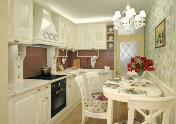 Кухня в стиле прованс 6 кв.м.