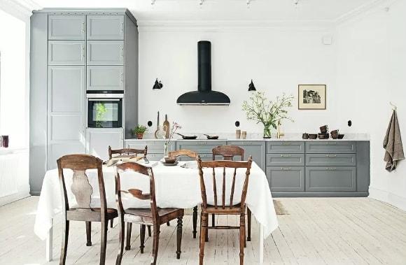 Кухня в стиле прованс без верхних шкафов