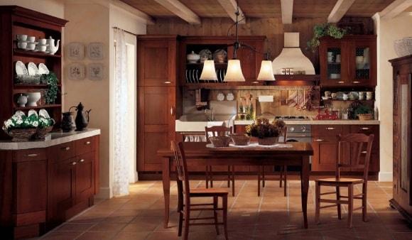 Кухня в стиле прованс из массива дерева