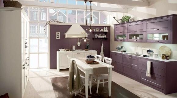 Кухня в стиле прованс лавандового цвета