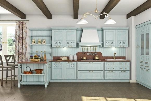 Кухня в стиле прованс модульной системы