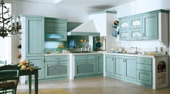 Кухня в стиле прованс мятного цвета