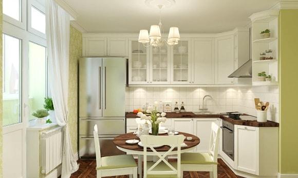 Кухня в стиле прованс размером 6 кв.м.