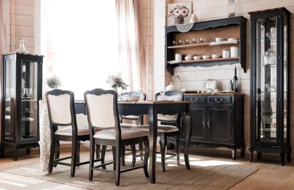 Кухня в стиле прованс с комодом