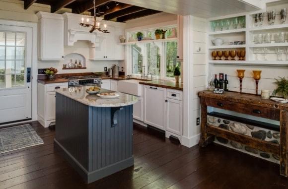 Кухня в стиле прованс с островком
