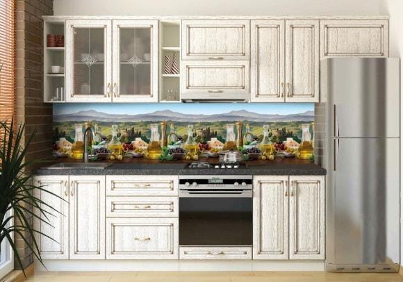 Кухня в стиле прованс со скинали