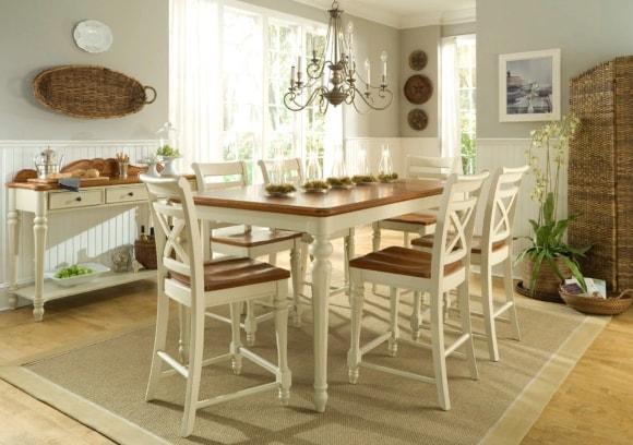Кухня в стиле прованс со столом
