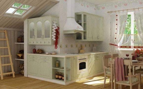 Кухня в стиле прованс в дачном домике
